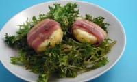 Salade de chèvre chaud lardé