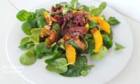 Salade de gésiers de canard, oranges et figues