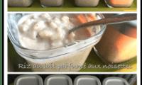 Riz au lait parfumé aux noisettes