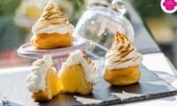 Choux façon tarte citron meringuée