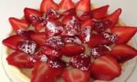 Tarte aux fraises avec crème pâtissière végétale