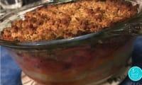 Crumble 3 légumes et mozzarella
