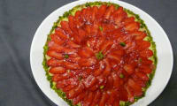 Tarte aux fraises et aux pistaches