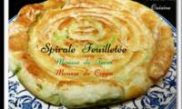 Spirale feuilletée à la mousse de fèves et mousse de coppa