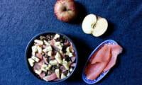 Salade de lentilles vertes, saumon fumé et pomme croquante
