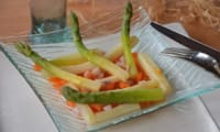Salade d'asperges, vinaigrette à l'orange