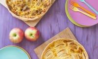 Tarte aux pommes à l'alsacienne, et tarte banane chocolat fève tonka