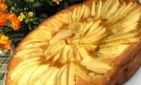 Flognarde aux pommes et au rhum