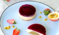 Cheesecake Céleste de Pierre Hermé fraises, rhubarbe et passion