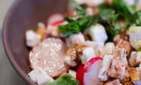 Salade de melon, de feta et de radis
