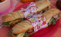 Sandwich poulet au cari et fenouil croquant et gourmand