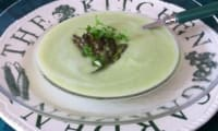 Velouté d'asperges en deux cuissons