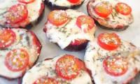 Aubergines façon mini pizzas