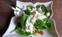 Salade d'Epinards au Bleu et Saumon Mariné au Citron Vert
