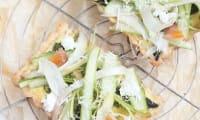 Tartelettes aux asperges, parmesan et haddock fumé
