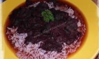 Daube de poulpe au vin rouge