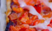 Tarte au poivron rouge et au manchego