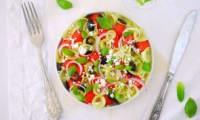 Salade de pastèque concombre feta olives noires
