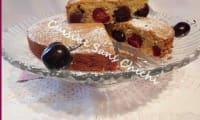 Gâteau cerises amandes et cannelle.