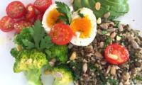 Salade de quinoa brocoli lentilles
