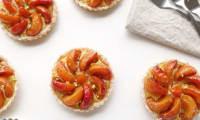 Tartelettes abricots et lait d'amande
