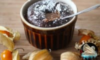 Fondant aux framboises et chocolat individuel