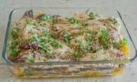 Gratin de sardines à l'orange et aux pignons de pin