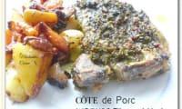 Côtes de porc en marinade au citron et aux herbes