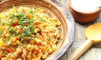 Pilaf de boulghour, sauce tahiné