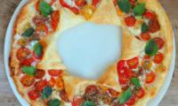 Tarte soleil aux tomates cerises multicolores