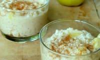 Riz au lait aux pommes et caramel beurre salé