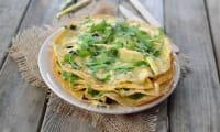 Crêpes d'omelette aux olives
