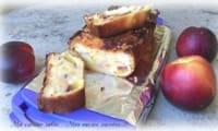Cake aux nectarines chamallows