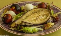Millefeuille de poulet et aubergine