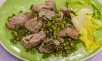 Sauté de filet de porc aux petits pois et aux herbes