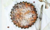 Bread pudding aux pommes et caramel