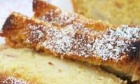 Cake de polenta aux pêches