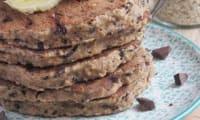 Pancake à la banane et aux flocons l'avoine