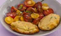 Fritelle de ricotta aux tomates cerises