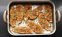 Aubergines aux amandes et graines de sésame