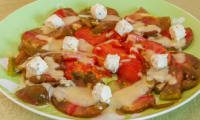Tomates à la crème de boursin