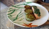 Saumon en croute d'herbes au four