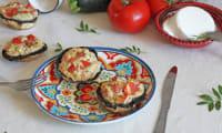 Champignons farcis à la crème de courgette et Ricotta