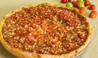 Tarte aux tomates, pesto et pécorino