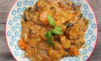 Sauté de porc aux légumes et à la crème coco