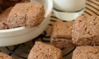 Sablés au chocolat et quinoa soufflé