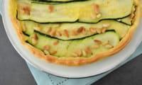 Tarte moelleuse aux courgettes et parmesan