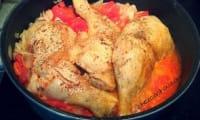 Cuisses de poulet aux tomates