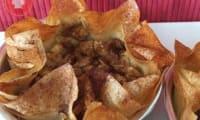 Tartelettes aux pommes légères sur feuilles de brick