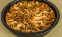 Gâteau de poires à la ricotta et aux pistaches